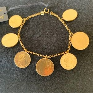 Brand new !With tag 14Kt gold except coin bracelet